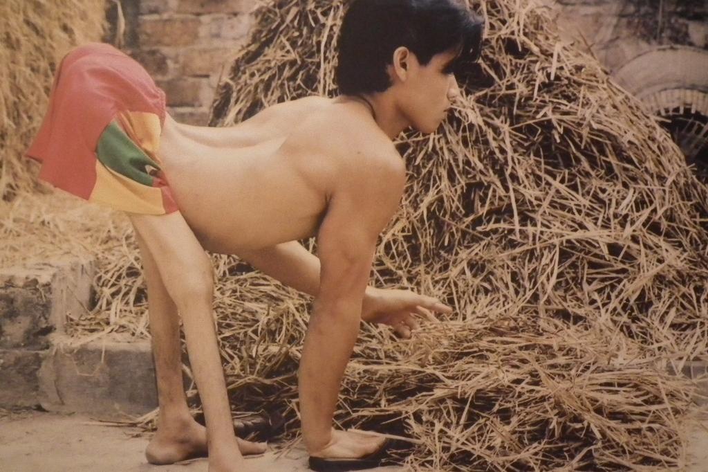 ベトナム、四つん這いの少年