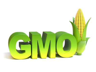 GMO genetically modified food 3d concept